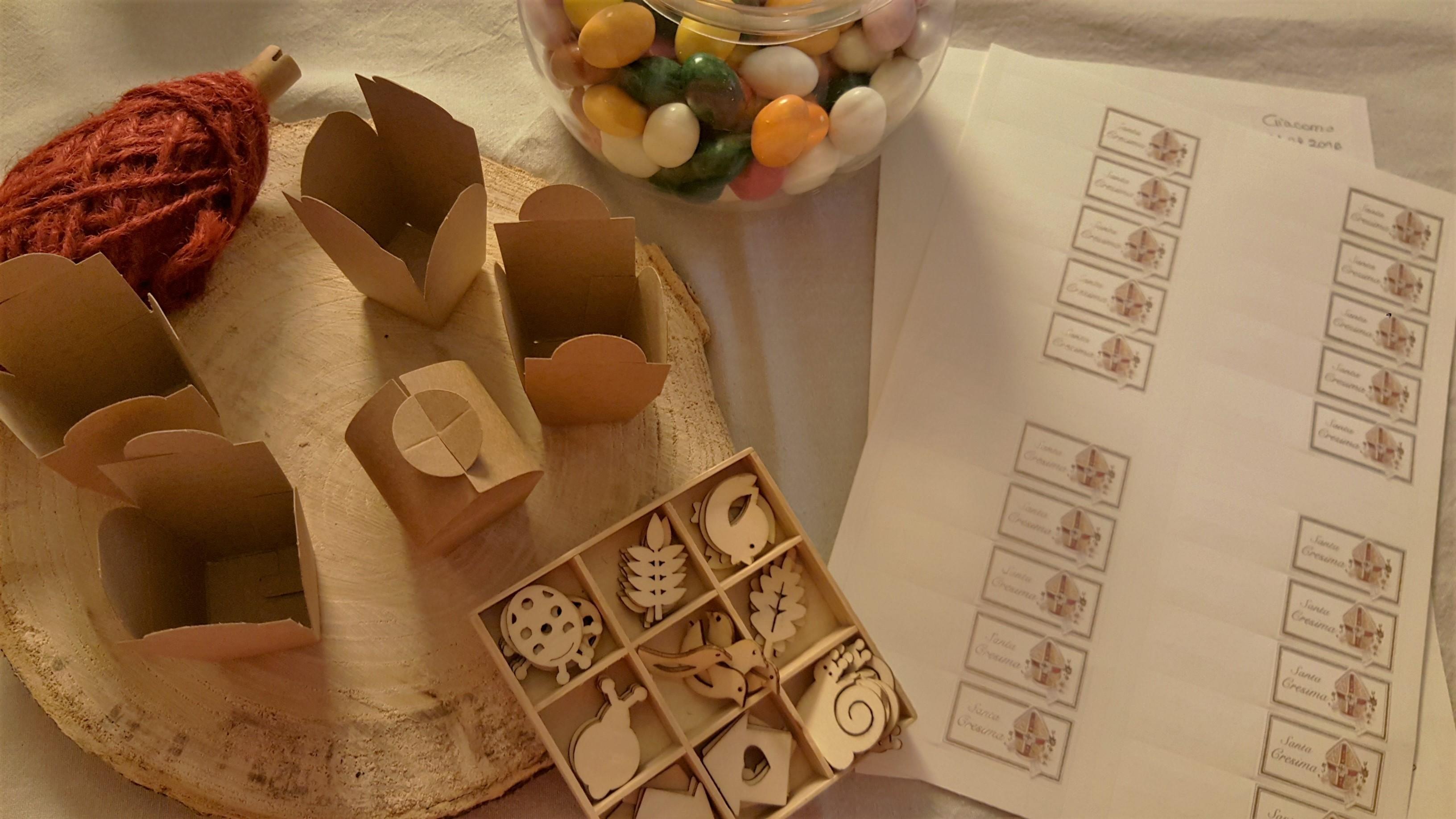 Dove possibile creare un piccolo angolo dove allestire i confetti e le oniere che il cresimando dovr poi consegnare personalmente agli invitati